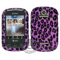 Purple Leopard HARD Case Snap Phone Cover for AT&T Pantech Pursuit II 2 P6010