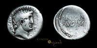 MARK ANTONY ATHENS PORTRAIT ANCIENT ROMAN SILVER DENARIUS COIN 023236