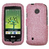 Pink Crystal Diamond BLING Case Phone Cover for LG Attune UN270 Beacon MN270