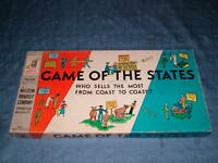 VINTAGE TOY 1954 MILTON BRADLEY GAME of the STATES