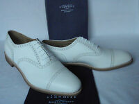NEW Charles Tyrwhitt White Grained Calf Leather Cap Toe Lace Up Shoes UK 13 F