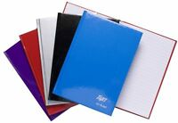 A5 Size Feint Ruled Casebound Notebook (Red, Blue, Black, Silver or Purple)