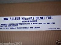 NEW GILBARCO MARCONI ED-302 LOW SULFER DIESEL FUEL SIGN DISPLAY DECAL