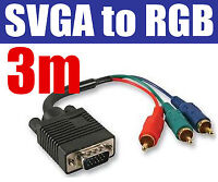 3M VGA to Phono RGB SVGA LCD Projector Cable Lead 03248