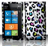For AT&T Nokia Lumia 900 Rubberized HARD Case Snap Phone Cover Rainbow Leopard