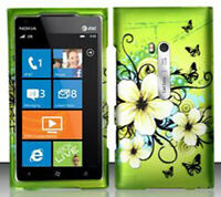For AT&T Nokia Lumia 900 Rubberized HARD Case Snap Phone Cover Hawaiian Flowers