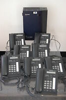 Panasonic KX-TDA15 TELEPHONE SYSTEM WITH 8 PANASONIC KX-T7665