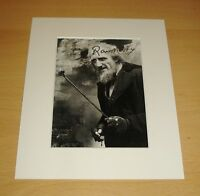 RON MOODY HAND SIGNED 10x8 AUTOGRAPH PHOTO MOUNT DISPLAY OLIVER! FAGIN + COA