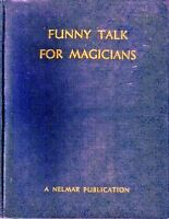 [Scarce] FUNNY TALK FOR MAGICIANS, 7th Ed., by F. Lane, 1945, Nelmar, Very Good!