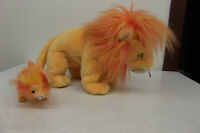 2000 TY Beanie Babies Buddies Collection Bushy The Lion with Baby