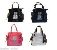 JUICY COUTURE Glit Glam JC Logo Pretty Day Ms Daydreamer Tote Bag w/ Charm