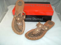 """Woman's Camel Sandals traction tread by Pierre Dumas """"Hayden"""" NEW Free Shipping"""