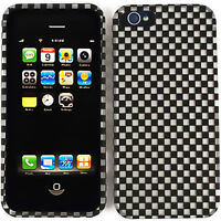 White Black Checker Phone Hard Cover Case for Apple iPhone 5 6th Gen Accessory