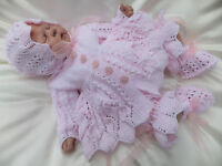 KNITTING PATTERN TO MAKE *PATIENCE* 4 PIECE MATINEE SET FOR BABY OR REBORN DOLL