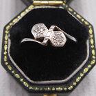 Art Deco 2 Stone Diamond Ring set in 18ct & Plat