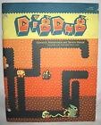 Atari DIG DUG Video Arcade Game Original MANUAL digdug