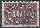 1922-23 GERMANIA USATO REICH WEIMAR 100 M F.2 - DE015