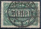 1922-23 GERMANIA USATO REICH WEIMAR 5000 M F.2 - DE016-2