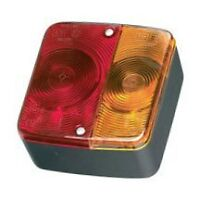 4 function trailer square light towing tow parts lens