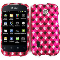 Black and Whie Saints on Pink Hard Cover for AT&T Huawei Fusion U8652 Phone Case