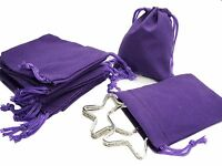 Purple Velvet Gift Pouches Bags w drawstring Jewelry, 7x9cm Wholesale Lot of 8