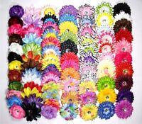 Baby Girls Daisy/peony/feathers/Camellia/Lily Flowers Hair Bow clip &Headband