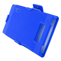 For LG Venice LG730 COMBO Belt Clip Holster Case Phone Cover Kick Stand Blue