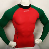 New 179 baselayer COMPRESSION skin tights top S~2XL sports shirt Red