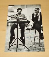 SIR GEORGE MARTIN GENUINE SIGNED AUTOGRAPH 12x8 PHOTO THE BEATLES MANAGER + COA