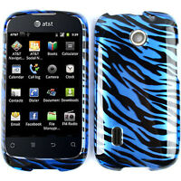 Blue Zebra Skin Protector Hard Case for AT&T Huawei Fusion U8652 Snap on Cover