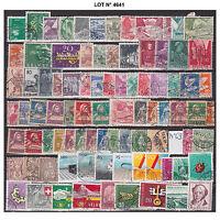 004641 LOT SUISSE HELVETIA 85 TIMBRES différents