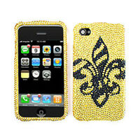 Saints On Yellow Diamond Snap On Cover For Apple iPhone 4 4S Hard Case Faceplate