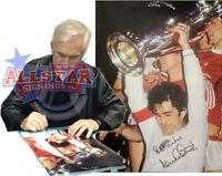 "DENNIS MORTIMER SIGNED ASTON VILLA 16""x12"" EUROPEAN CUP 1982 PHOTOGRAPH PROOF"