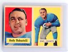 1957 TOPPS FOOTBALL #71 ANDY ROBUSTELLI - NEW YORK GIANTS