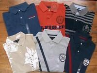 New Authentic NWT TOMMY HILFIGER SS Mens Polo Golf Rugby Shirt Logo Grapic