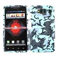 Phone Case for Motorola Droid Razr HD XT926 Hard Cover Blue Gray Camo Faceplate