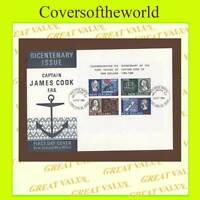 New Zealand 1969 James Cook miniature sheet on  neat U/A First Day Cover