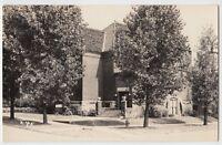 1940s BROOKFIELD Missouri MO Real photo RPPC Postcard Christian Church