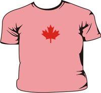 Canada Maple Leaf Pink Kids T-Shirt