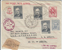 Argentina 12.IV.1946 Regist. Cover From Buenos Aires To Los Angeles, CA, USA!