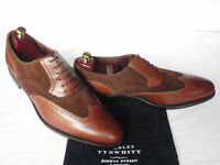 NEW Charles Tyrwhitt Two Tone Brown Calf Leather & Suede Lace Up Shoes UK 9 F