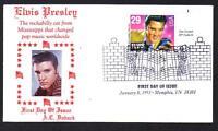 Elvis Presley #2721 FDC Music Cancel A C DOBACK PHOTO Cachet UA (LOT 289)
