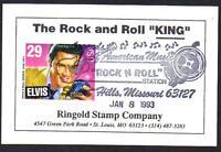 Elvis Presley #2721 FDC Unofficial FDOI Rock n roll Statio Ringold Card(LOT 300)