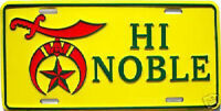 High Noble Embossed Car Metal License Plate New