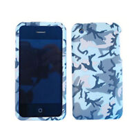 Blue And Gray Camo Hard Cover Protector Phone Case For Apple iPhone 3G 3GS