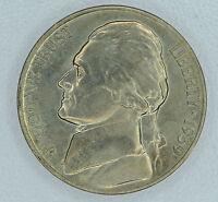 5c Five Cent 1939 D CH BU+, Jefferson Nickel Extreme High Grade Lustrous Violet.