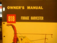 NEW HOLLAND 818 FORAGE HARVESTER OWNERS MANUAL