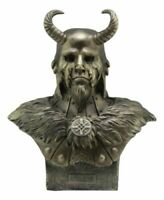 NORSE MYTHOLOGY DEITY GOD LOKI BUST STATUE FIGURINE HALF JOTUNN AND GOD