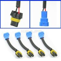 4x Brand new 9005/HB3 extension Plastic wiring harness For headlight /Fog Lights