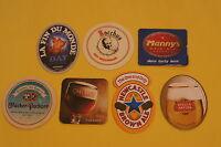 7 Beer European COASTERS ~ Stella Artois, Newcastle, Chimay, Unibroue (Canada) +